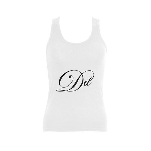 Alphabet D - Jera Nour Women's Shoulder-Free Tank Top (Model T35)