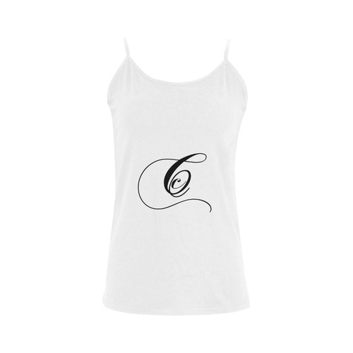 Alphabet C - Jera Nour Women's Spaghetti Top (USA Size) (Model T34)