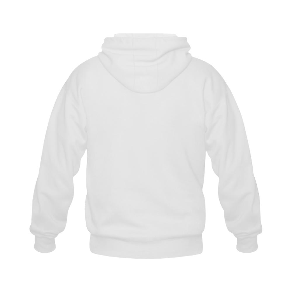 Alphabet N - Jera Nour Gildan Full Zip Hooded Sweatshirt (Model H02)