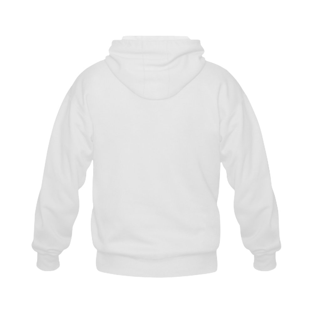 Alphabet O - Jera Nour Gildan Full Zip Hooded Sweatshirt (Model H02)