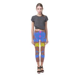 Retro texture Capri Legging (Model L02)