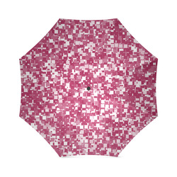 Cerise Pixels Foldable Umbrella (Model U01)