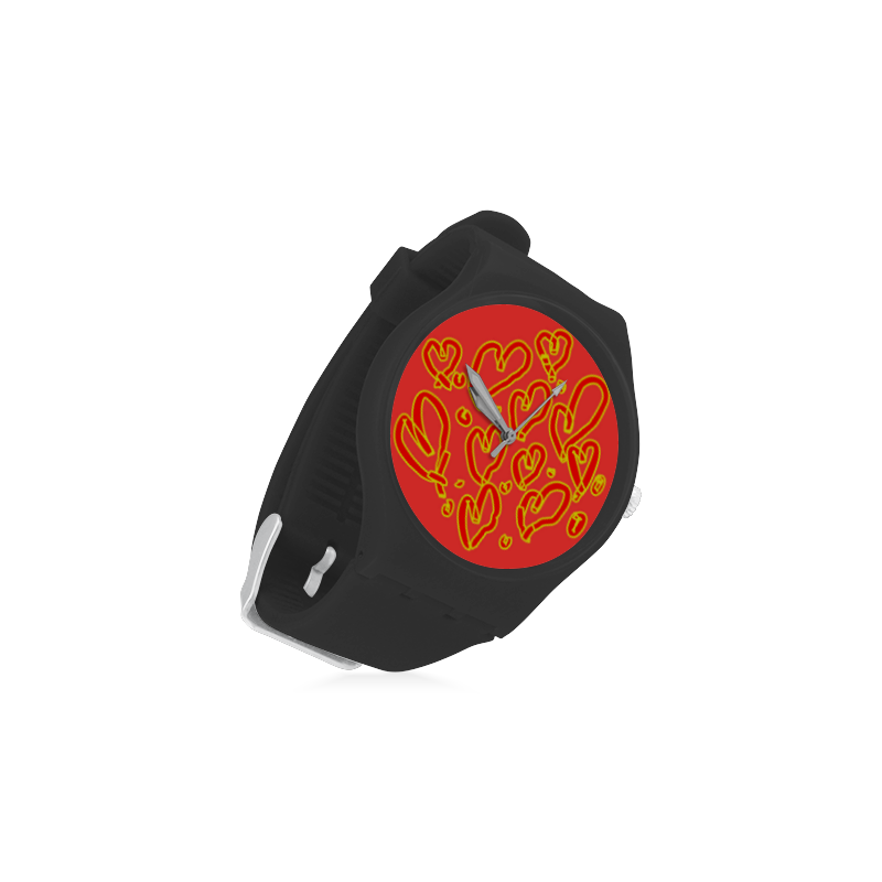 Have a heart Unisex Round Rubber Sport Watch(Model 314)