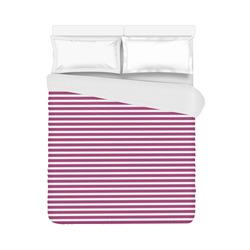 "Festival Fuchsia Stripes Duvet Cover 86""x70"" ( All-over-print)"