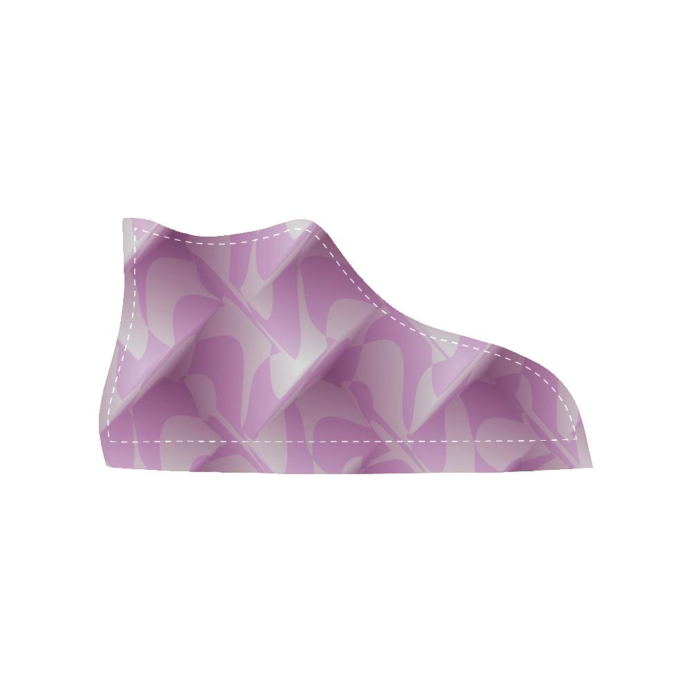 Subtle Light Purple Cubik - Jera Nour High Top Canvas Women's Shoes/Large Size (Model 002)