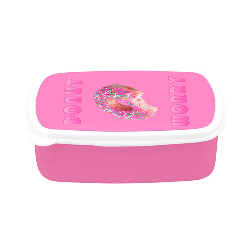 Funny Donut (Do Not) Worry Pun Children's Lunch Box
