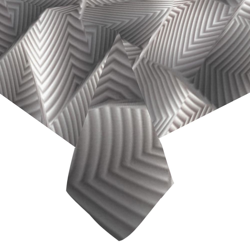 """Metallic Tile - Jera Nour Cotton Linen Tablecloth 60""""x120"""""""