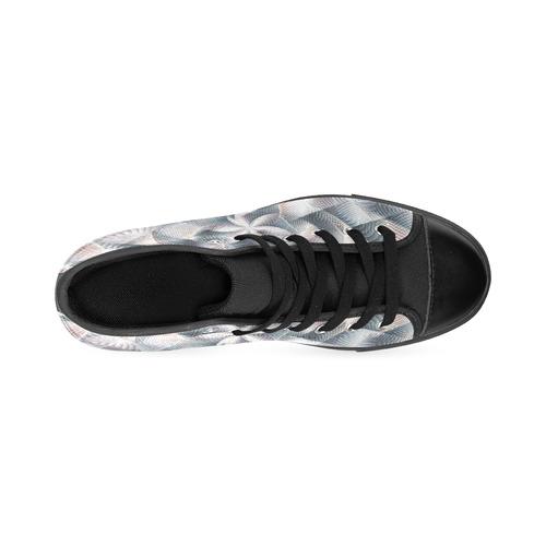 Metallic Petals - Jera Nour High Top Canvas Women's Shoes/Large Size (Model 017)
