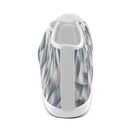 Metallic Petals - Jera Nour High Top Canvas Women's Shoes/Large Size (Model 002)