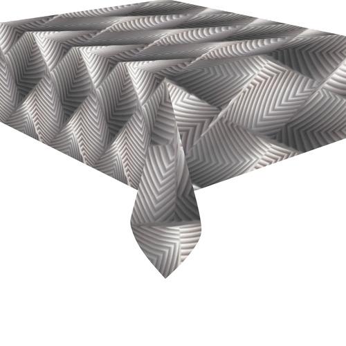 """Metallic Tile - Jera Nour Cotton Linen Tablecloth 52""""x 70"""""""