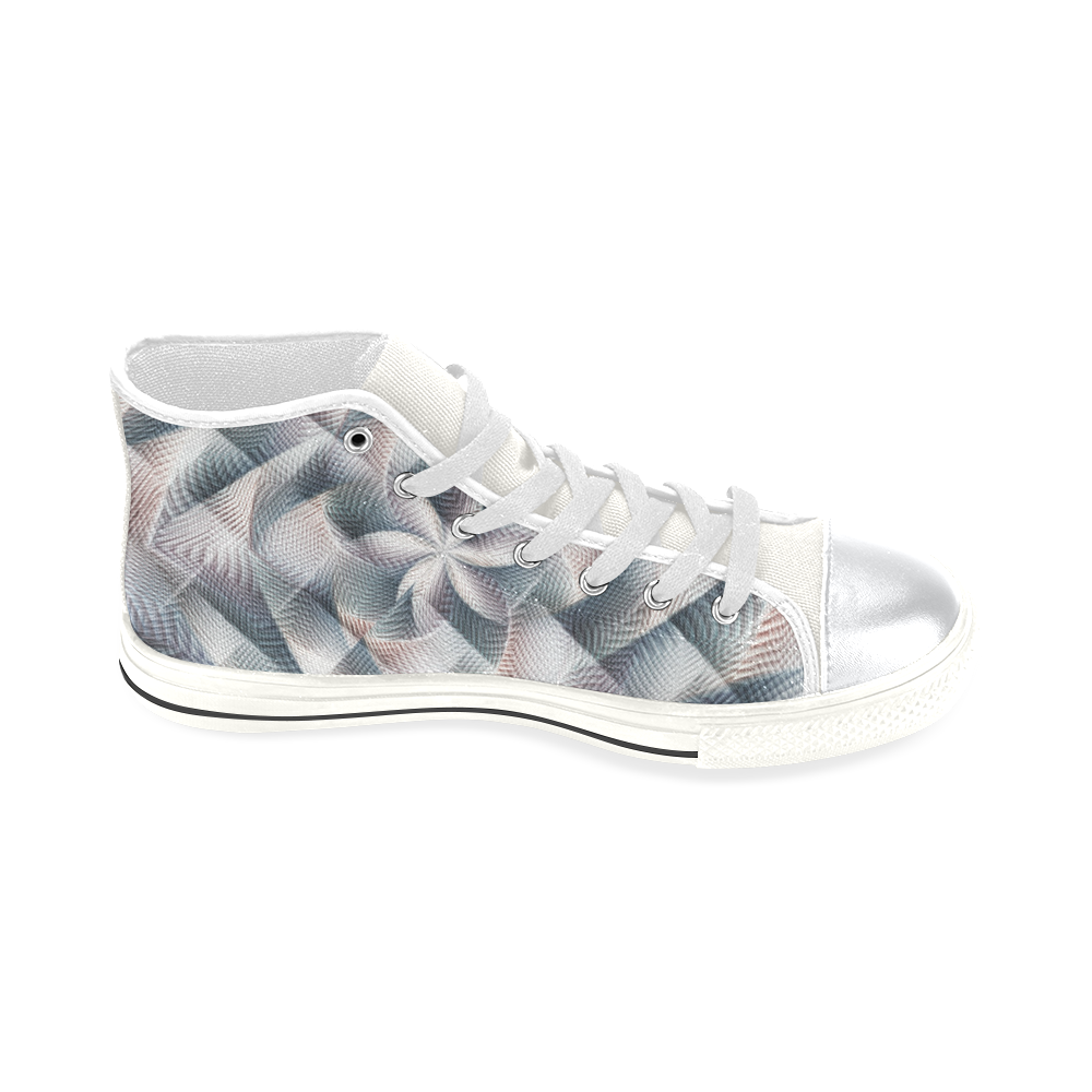 Metallic Petals - Jera Nour High Top Canvas Women's Shoes/Large Size (Model 017)