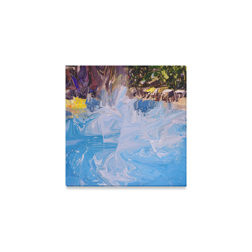 "SPLASH 4 Canvas Print 6""x6"""