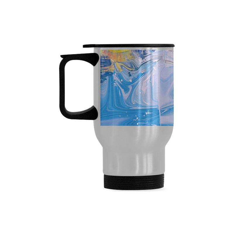SPLASH 4 Travel Mug (Silver) (14 Oz)