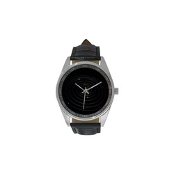Our Solar System Men's Casual Leather Strap Watch(Model 211)