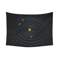 "Our Solar System Cotton Linen Wall Tapestry 80""x 60"""
