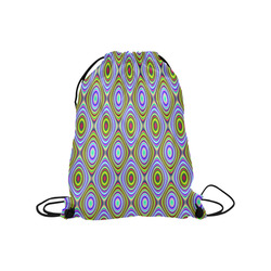 "Psychedelic Peacook Eyes Medium Drawstring Bag Model 1604 (Twin Sides) 13.8""(W) * 18.1""(H)"