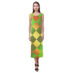 Easter Square Phaedra Sleeveless Open Fork Long Dress (Model D08)