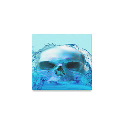 """Skull in Water Canvas Print 6""""x4"""""""