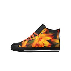 Hawt Orange Aquila High Top Microfiber Leather Women's Shoes (Model 027)
