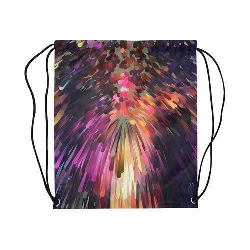 "Splash Boom Bang by Artdream Large Drawstring Bag Model 1604 (Twin Sides)  16.5""(W) * 19.3""(H)"