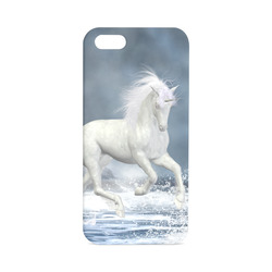 A white Unicorn wading in the water Hard Case for iPhone 5/5s
