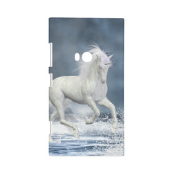 A white Unicorn wading in the water Hard Case for Nokia Lumia 920