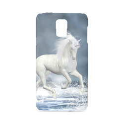 A white Unicorn wading in the water Hard Case for Samsung Galaxy S5