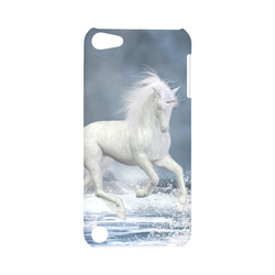 A white Unicorn wading in the water Hard Case for iPod Touch 5