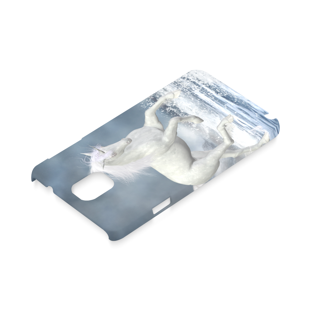 A white Unicorn wading in the water Hard Case for Samsung Galaxy Note 3