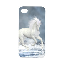 A white Unicorn wading in the water Hard Case for iPhone 4/4s