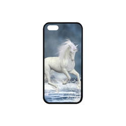 A white Unicorn wading in the water Rubber Case for iPhone SE