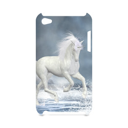 A white Unicorn wading in the water Hard Case for iPod Touch 4