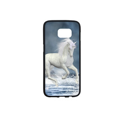 A white Unicorn wading in the water Rubber Case for Samsung Galaxy S7 edge