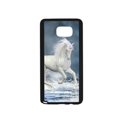 A white Unicorn wading in the water Rubber Case for Samsung Galaxy Note5