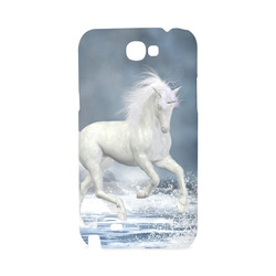 A white Unicorn wading in the water Hard Case for Samsung Galaxy Note 2