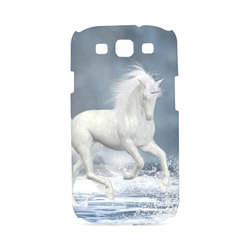 A white Unicorn wading in the water Hard Case for Samsung Galaxy S3