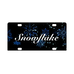 Snowflake Car Tag Classic License Plate