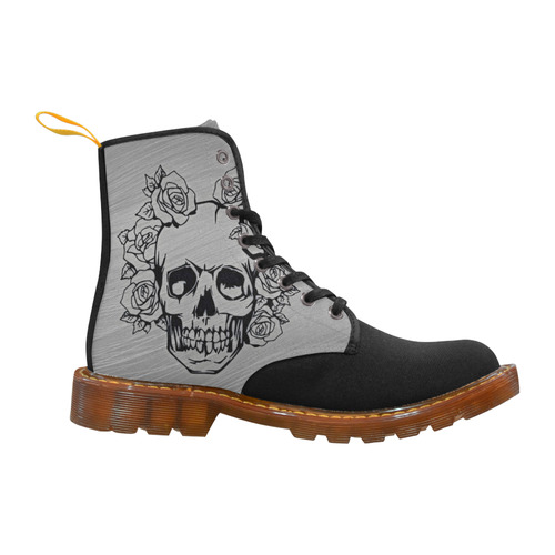 Skull With Roses Martin Boots For Women Model 1203h Id