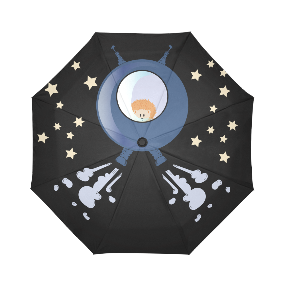 Hedgehog in space. spacecraft. Auto-Foldable Umbrella (Model U04)