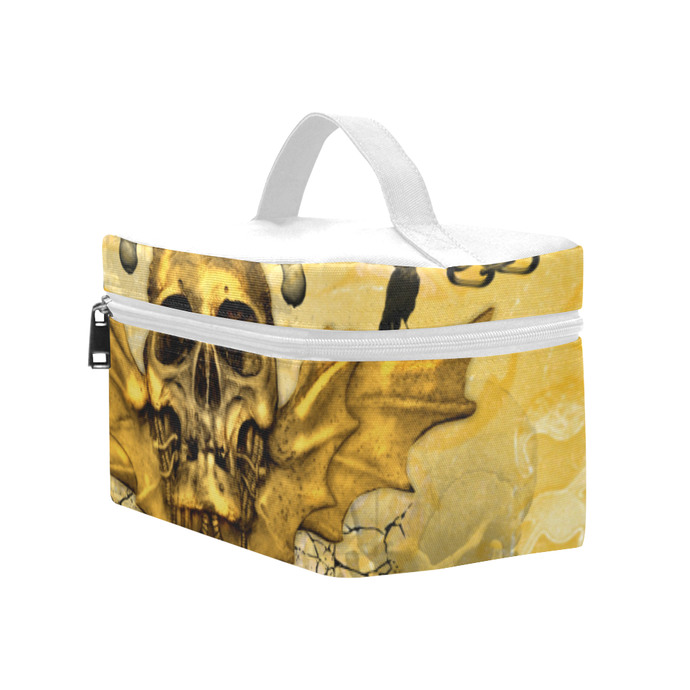 Awesome skull in golden colors Cosmetic Bag/Large (Model 1658)
