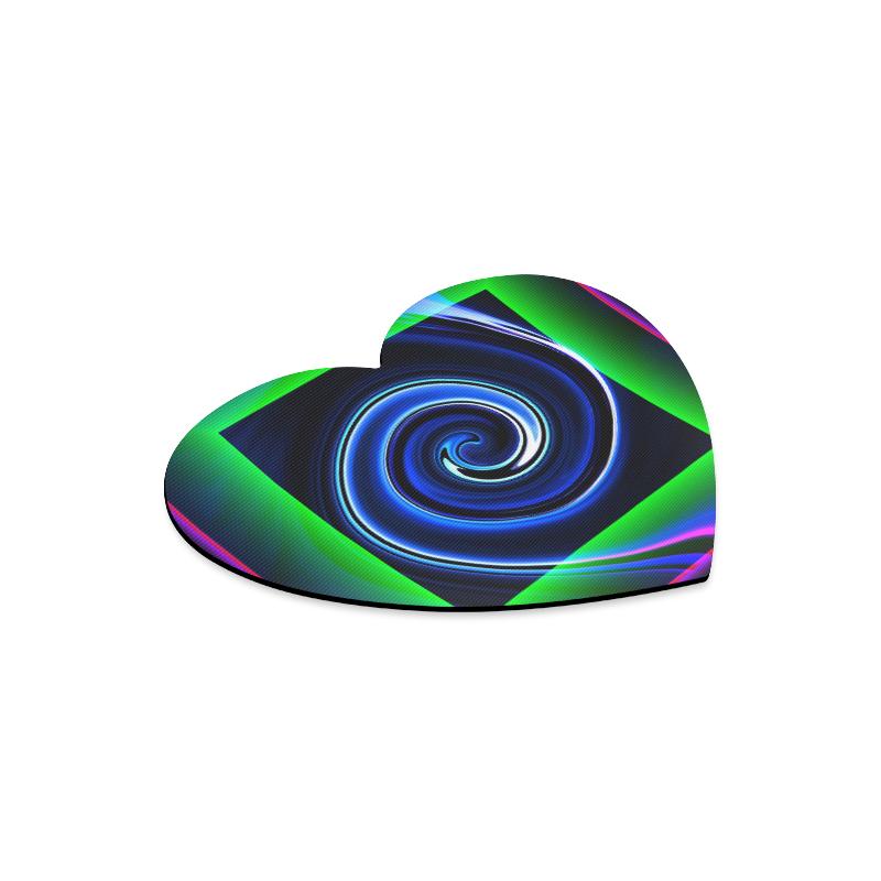 Dance in Neon - Jera Nour Heart-shaped Mousepad