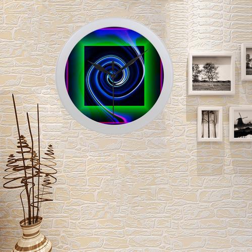 Dance in Neon - Jera Nour Circular Plastic Wall clock