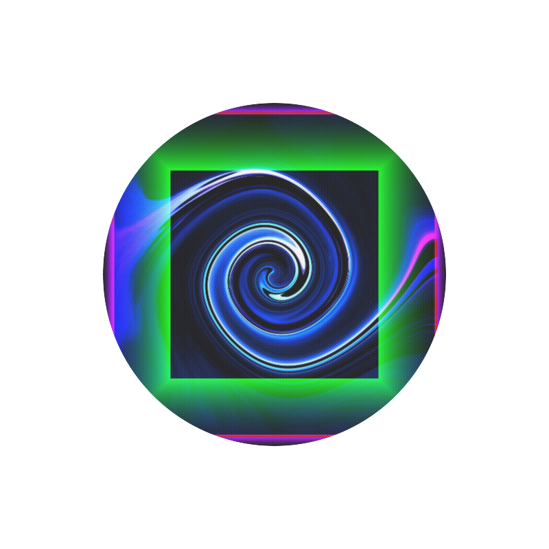 Dance in Neon - Jera Nour Round Mousepad