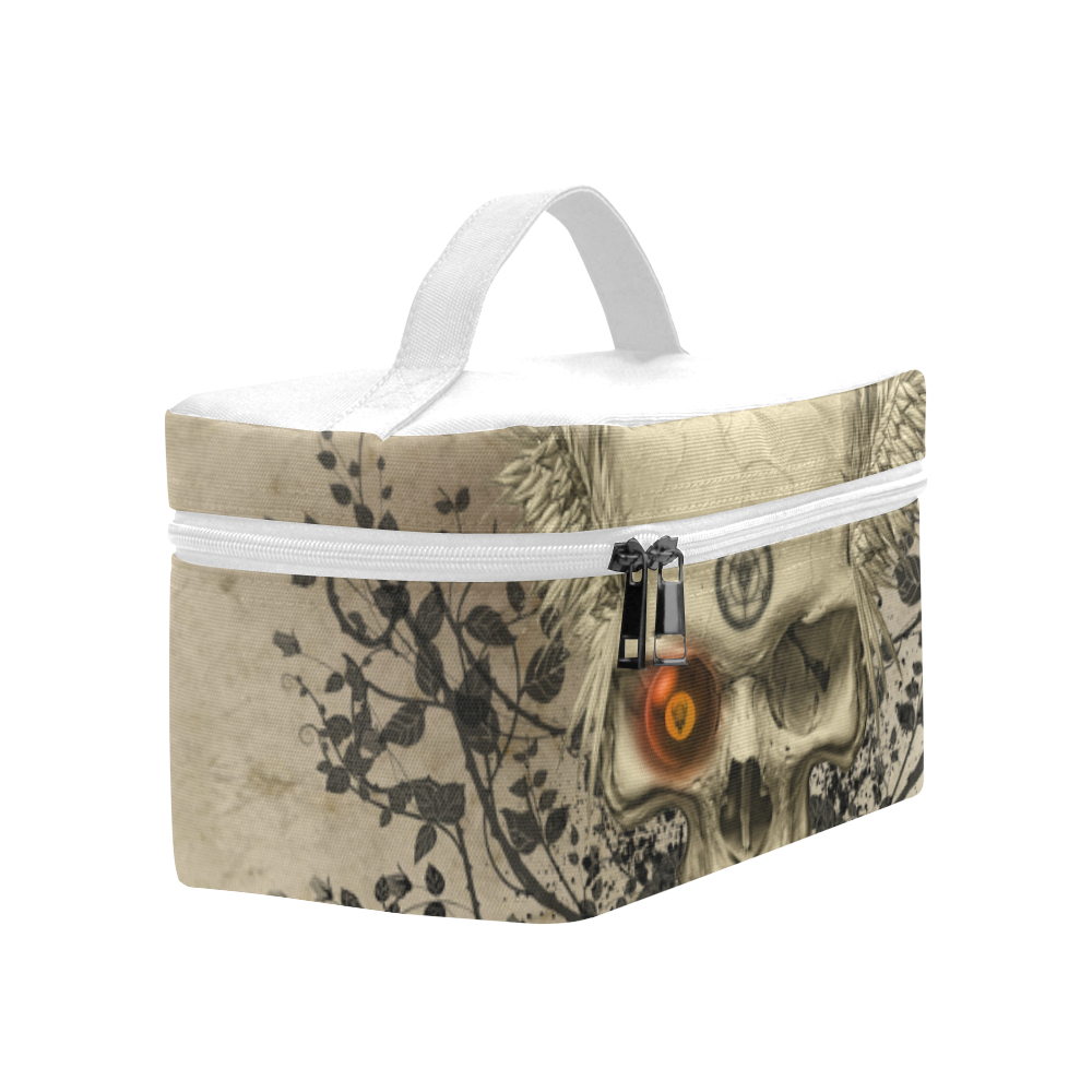 Amazing skull with wings,red eye Cosmetic Bag/Large (Model 1658)