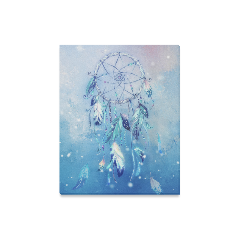 "A wounderful dream catcher in blue Canvas Print 16""x20"""