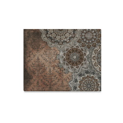 "Elegant grey brown vintage mandalas Canvas Print 20""x16"""