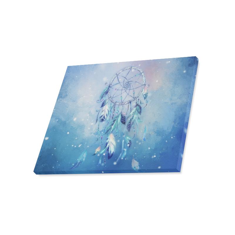 "A wounderful dream catcher in blue Canvas Print 20""x16"""