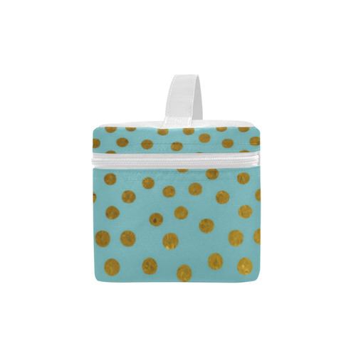Gold Elegance Polka Dots Shower Lunch Bag/Large (Model 1658)