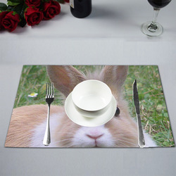 cute rabbit by JamColors Placemat 12''x18''