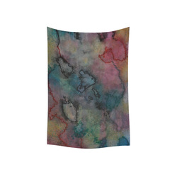 """Watercolor Cotton Linen Wall Tapestry 40""""x 60"""""""